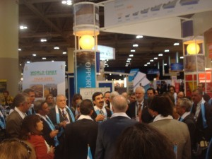 The Secretary of Mining, Jorge Mayoral, inaugurating the Argentinean Pavilion at PDAC 2010 Trade Show.
