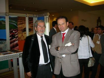 Nivaldo Rojas y Jorge Zamorano, Gerente de Exploraciones de Anglo  American