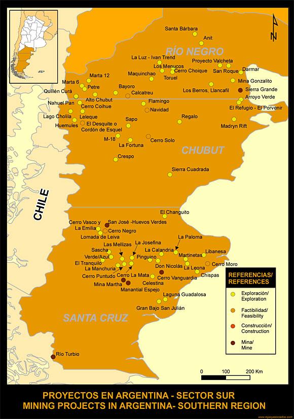mapa sector sur