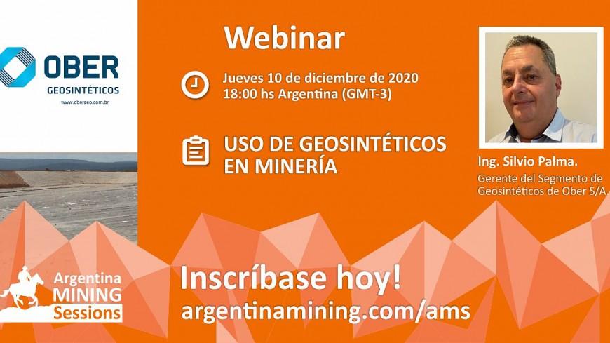 Webinar - 10/12 - OBER S/A - Uso de Geosintéticos en Minería